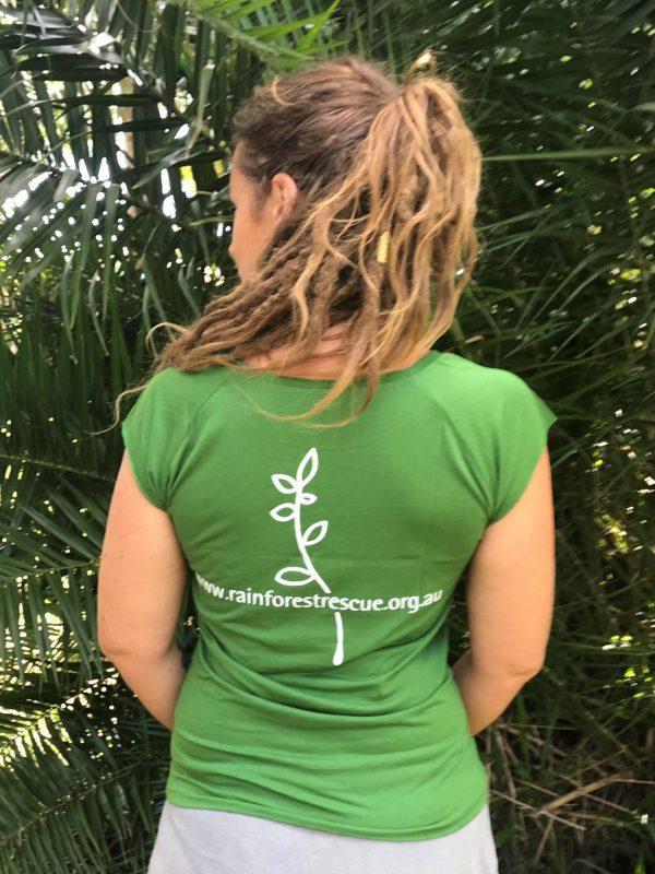 Green Bamboo Cotton Blend T-Shirt