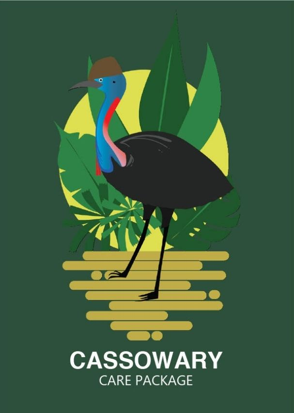 Cassowary Care Package LivingGift Gift Card by Claire Osman