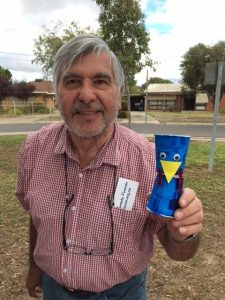 Grandad's Cassowary Craft at Amber & Penny's Fun Day