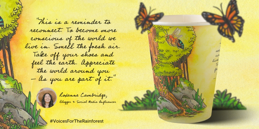 Roxanne Cambridge #VoicesForTheRainforest Cup