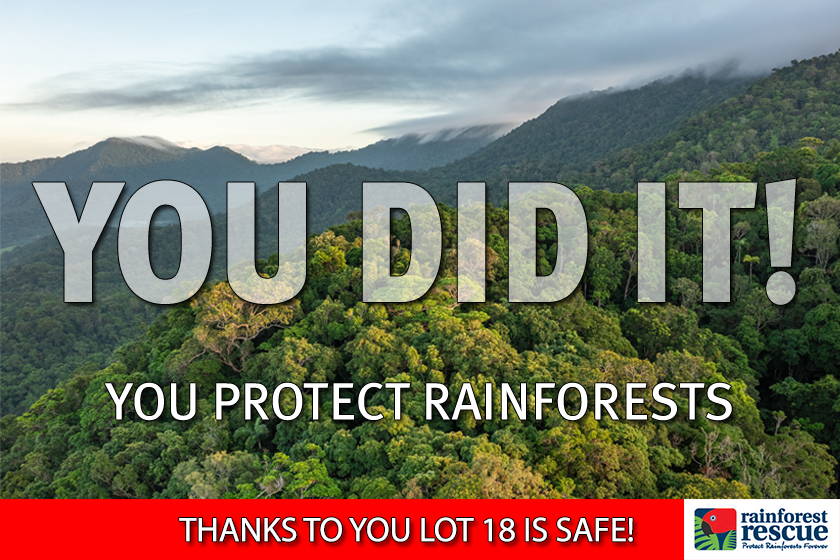 You did it! Lot 18 Cape Kimberley Rd is now protected forever!