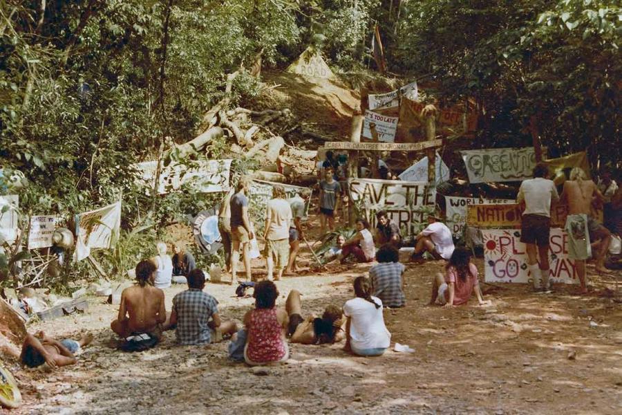 Daintree Blockade 1983 (Photo Lesley Clarke)